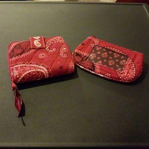 Vera Bradley wallet and change purse