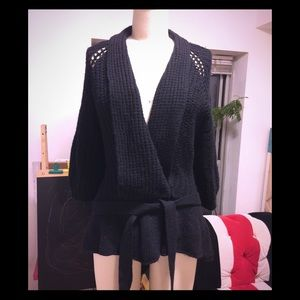 Nanette Lenore shawl peplum cardigan