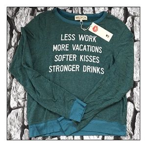 Wildfox Exclusive Resolutions Baggy Beach Jumper