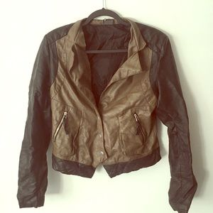 Sparkle and Fade Faux Leather Jacket