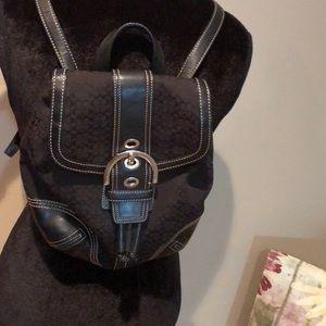 Black coach backpack!