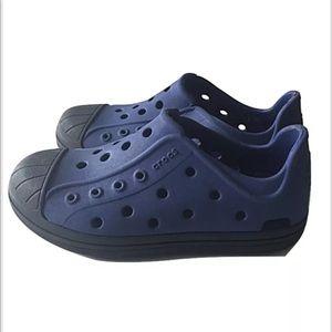 Crocs bump it shoes kids blue 12 rubber toddler