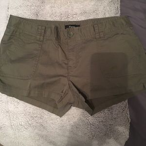 Olive green Express shorts