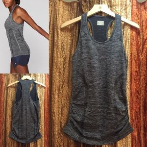 Athleta Speedlight Heather Tank in Flint Grey