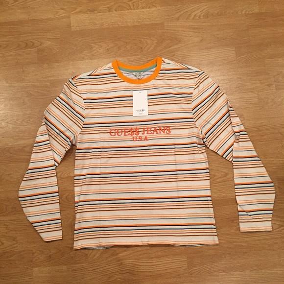 d8377527f89f Guess Shirts | X Asap Aap Rocky Striped Long Sleeve Tee | Poshmark