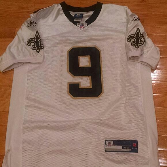 big sale acc91 c3d7d Drew Brees Reebok Saints white jersey