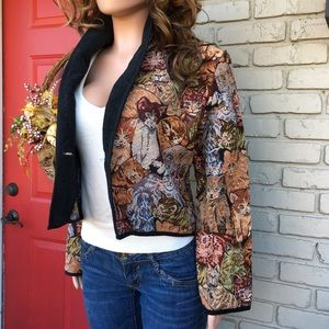 AMAZING cat brocade jacket blazer