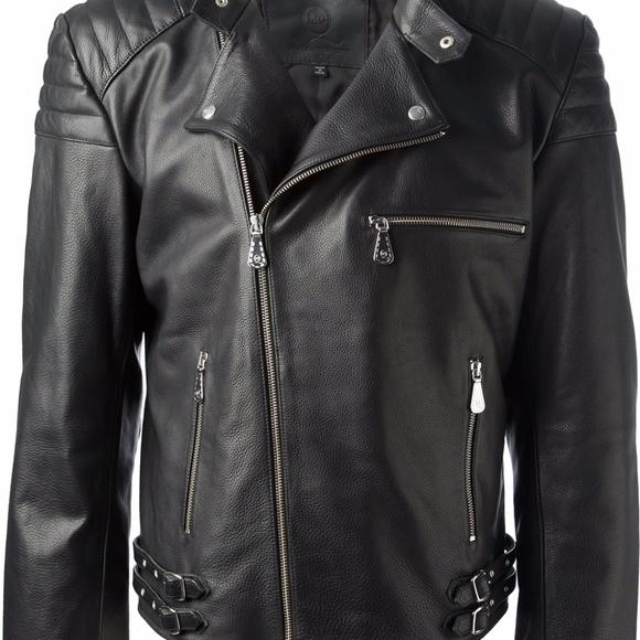 08c13f226f4eb MCQ Alexander McQueen Men Leather Jacket Moto It46.  M_5a122c75f0137d84290a95e6