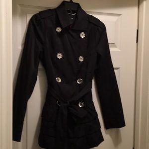 Express Black Ruffle Jacket