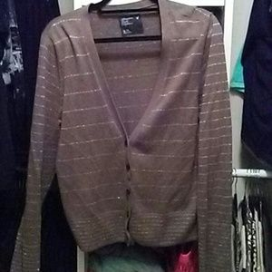 Tan v-neck cardigan American Eagle Outfitters