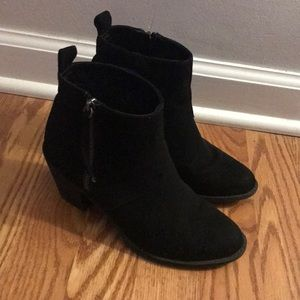 Forever 21 Faux Black Suede Ankle Booties