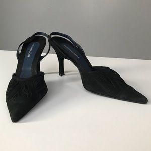 BCBG Max Azria Black Slingback Heels Italy