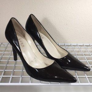 Ralph Lauren Amaya Brown Patent Heels Sz. 6.5