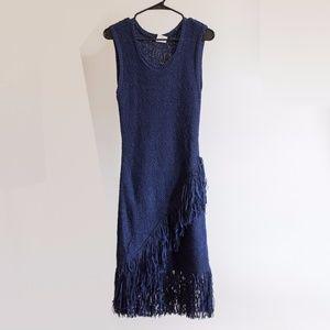 BCBG Asymmetrical Fringe Dress