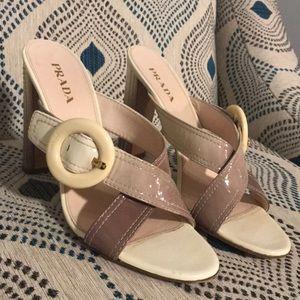 Prada - Tan & Brown Ombré Heels.