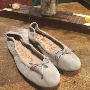 Sam Edelman Grey Suede Ballet Flats