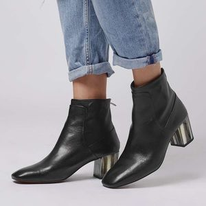 Topshop MUSIC bone heel ankle boots