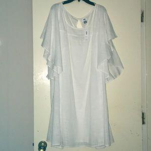 Old Navy White Linen 100% Cotton XXL dress