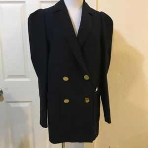Oversized Studio Blazer with Mutton Sleeves