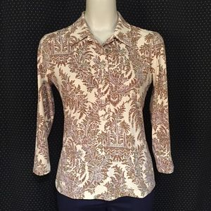J. McLaughlin Pull Over Stretch Top Size S