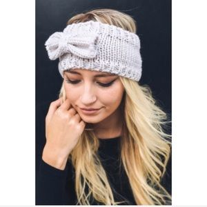 Accessories - Bow Headband Hair Head Wrap Sweater Knit Trendy