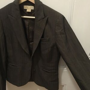 Michael Kors Blazer - Charcoal / Brown