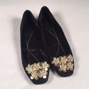 Kate Spade Black Suede Flats Size 7