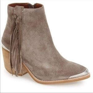 Jeffrey Campbell Pascal Fringe Booties, Size 8
