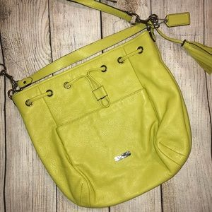 COACH crossbody bag in lime green