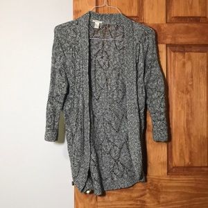 Forever 21 gray light weight open front cardigan