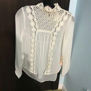 Nanette Lepore white blouse XS