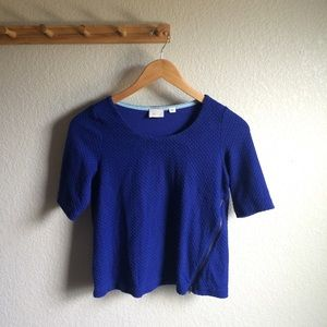 Anthropologie Side Zip Cropped Top