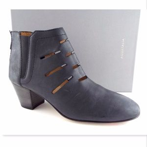 New AQUATALIA Black Cut Out Leather Ankle Boots