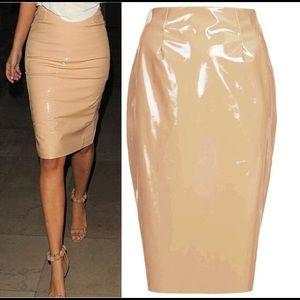 Dresses & Skirts - vinyl pencil skirt 🧡
