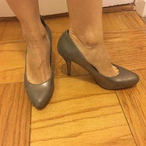 Banana Republic silver heels