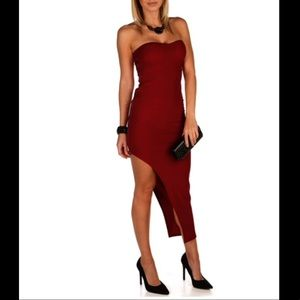 Windsor Side Zip Red Dress
