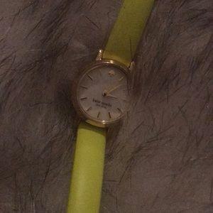 Kate Spade tiny metro watch bright yellow