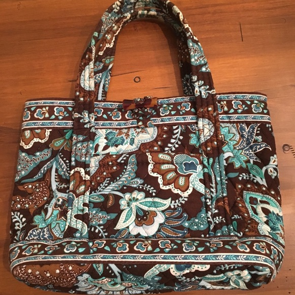 05e5a0184 Vera Bradley Bags | Bag Aqua And Brown | Poshmark