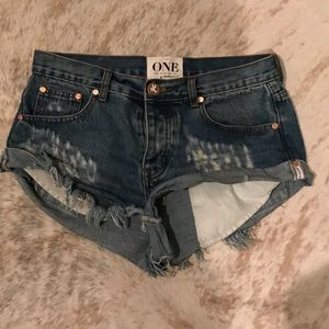 One Teaspoon cut off Bandit shorts