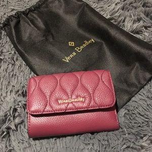 Vera Bradley Leather Compact Riley Wallet Claret