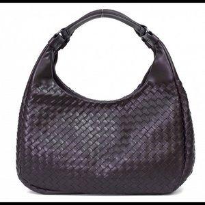Bottega Veneta Shoulder Hobo Bag - Dark Brown