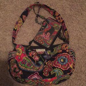 Vera Bradley quilted purse & wristlet