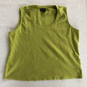 Lime Green Cotton Tank 1X