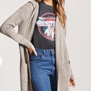 💋Longline hooded cardigan sweater - NWT dark gray