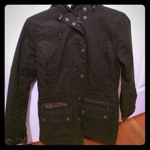 Beautiful Waxed Barbour Tartan Jacket Size 4