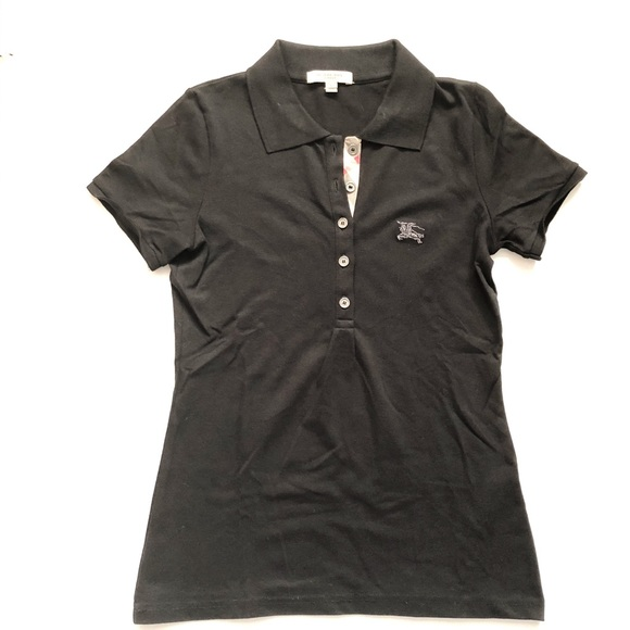 32191737a Burberry Tops | London Womens Black Polo Shirt | Poshmark