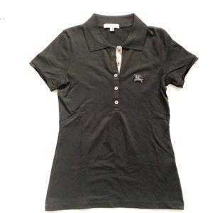 Burberry London Women's Black Polo Shirt