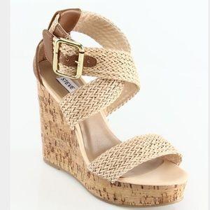 Steve Madden cork wedges heels