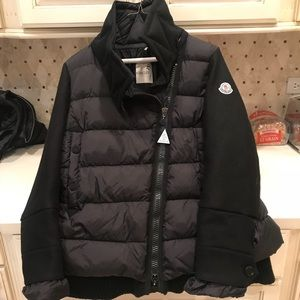 Moncler Laurine wool blend and quilted jacket