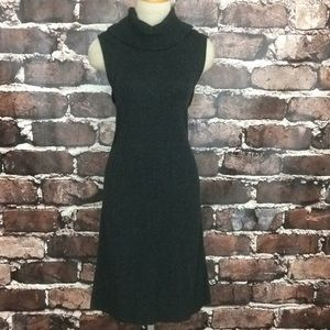 Halogen grey sweater dress sleeveless cashmere
